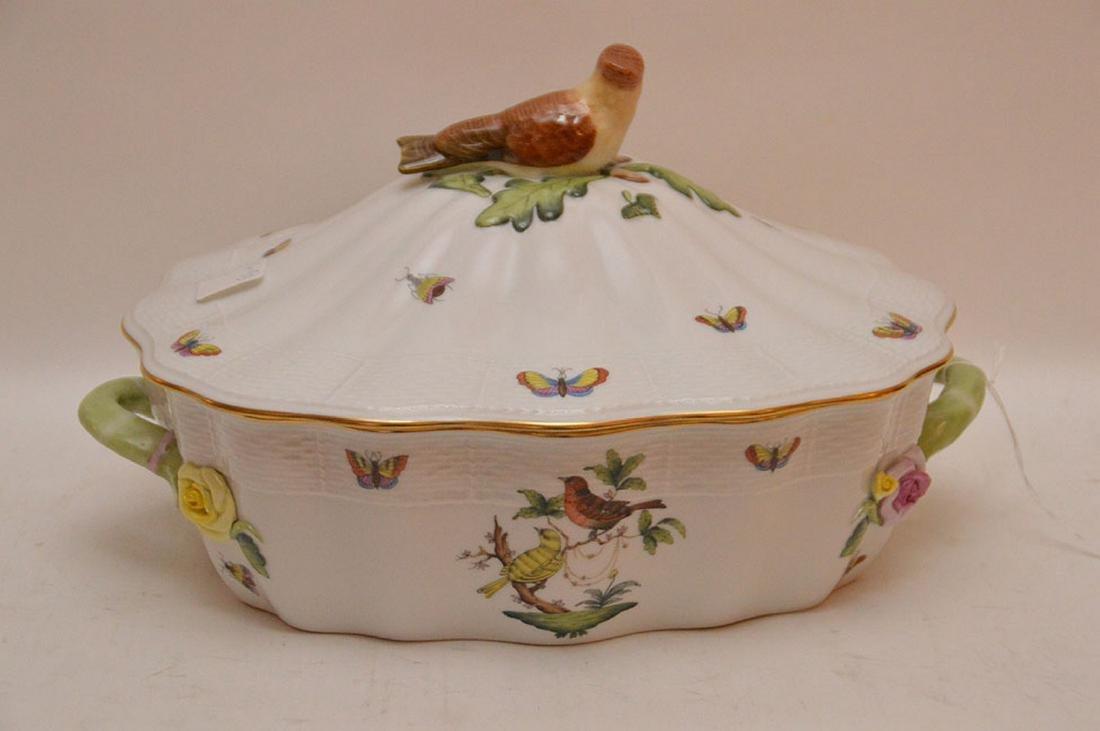 "Herend lidded soup tureen ""Rothschild"", birds, - 3"