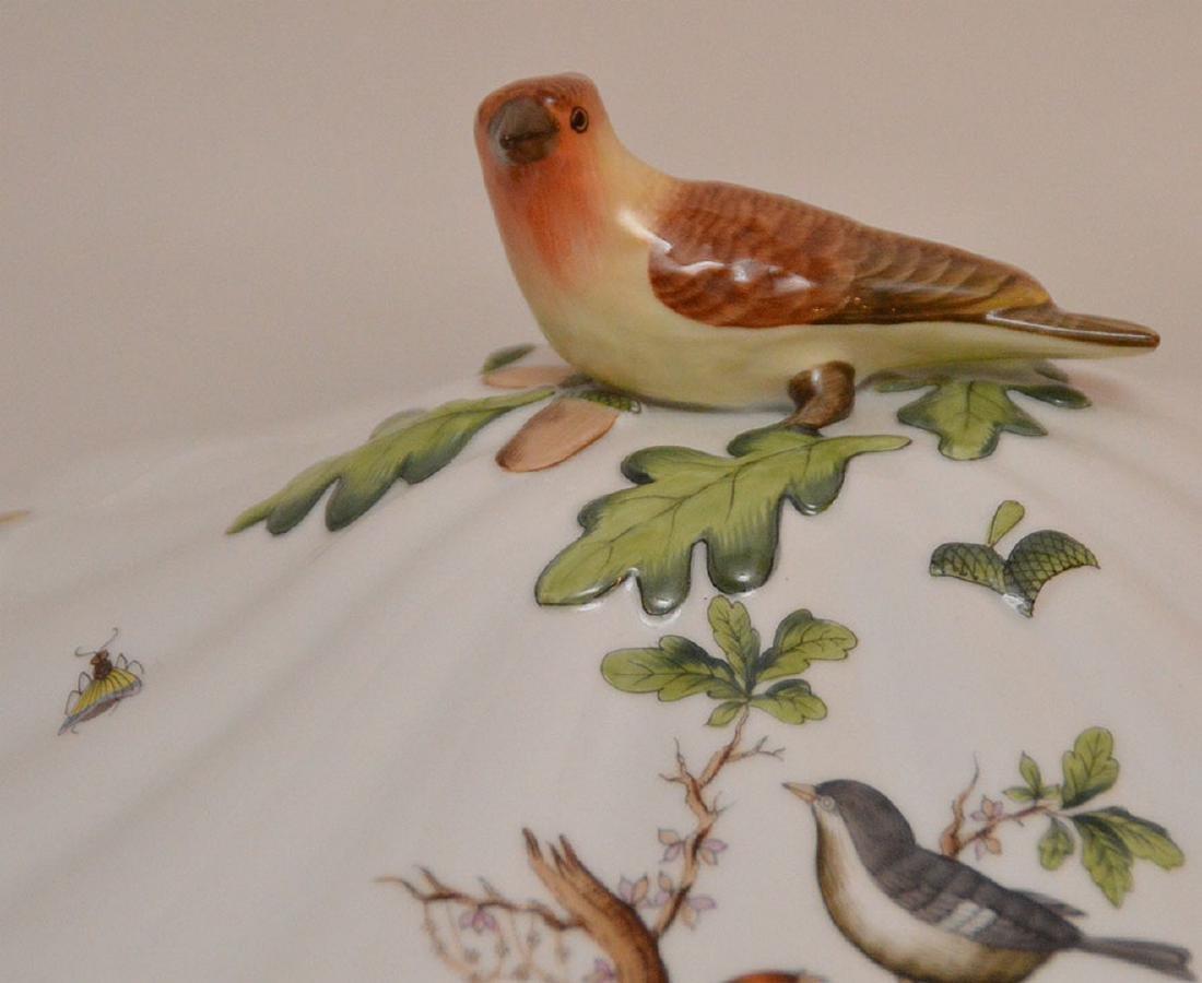 "Herend lidded soup tureen ""Rothschild"", birds, - 4"