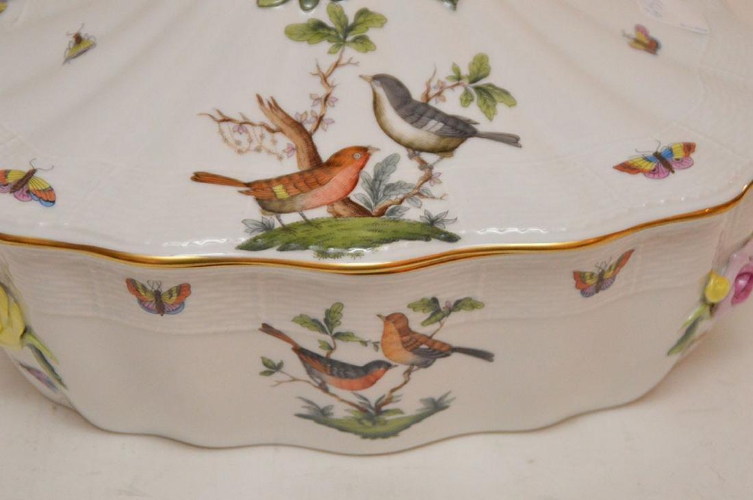 "Herend lidded soup tureen ""Rothschild"", birds, - 5"