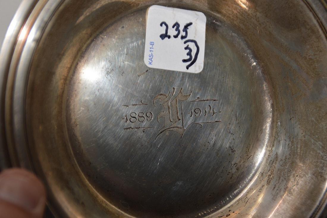 "3pc. Tiffany sterling, incl; platter (10""L), small bowl - 3"