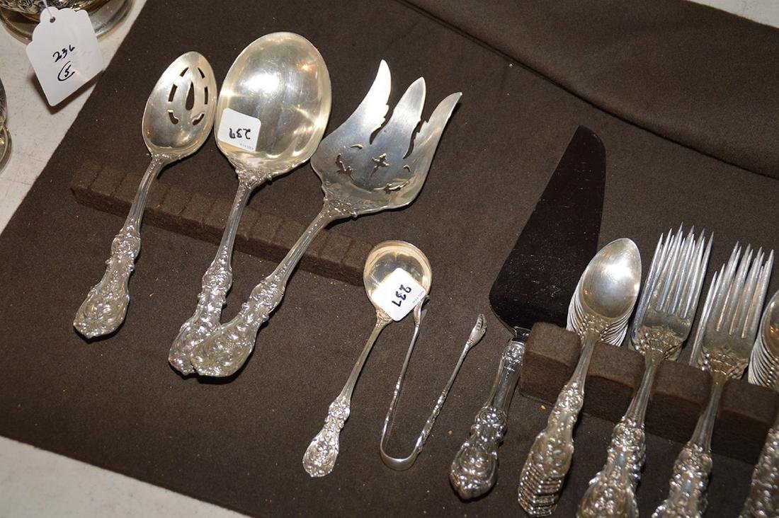 Reed and Barton sterling silver flatware set, Frances 1 - 2