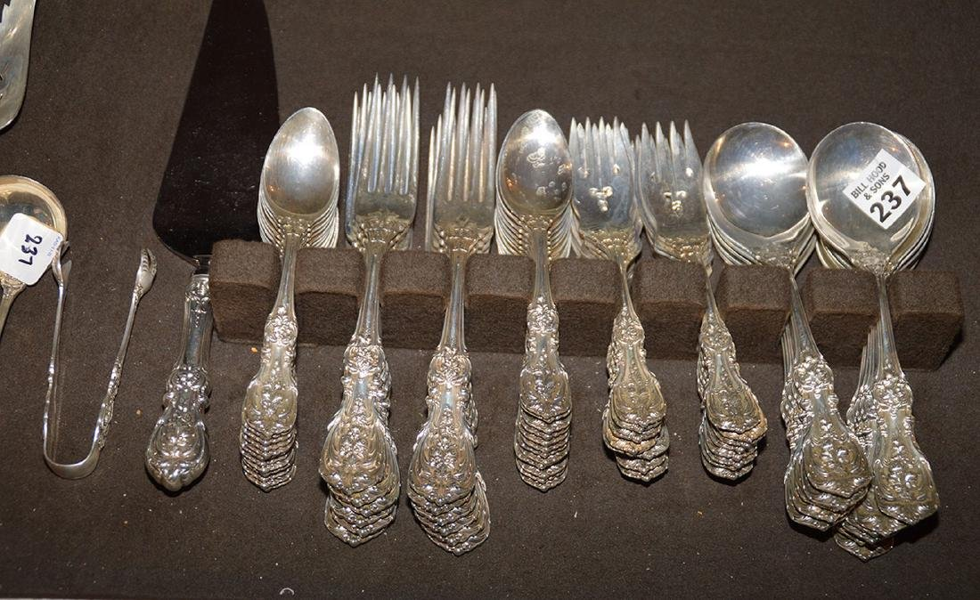 Reed and Barton sterling silver flatware set, Frances 1 - 3