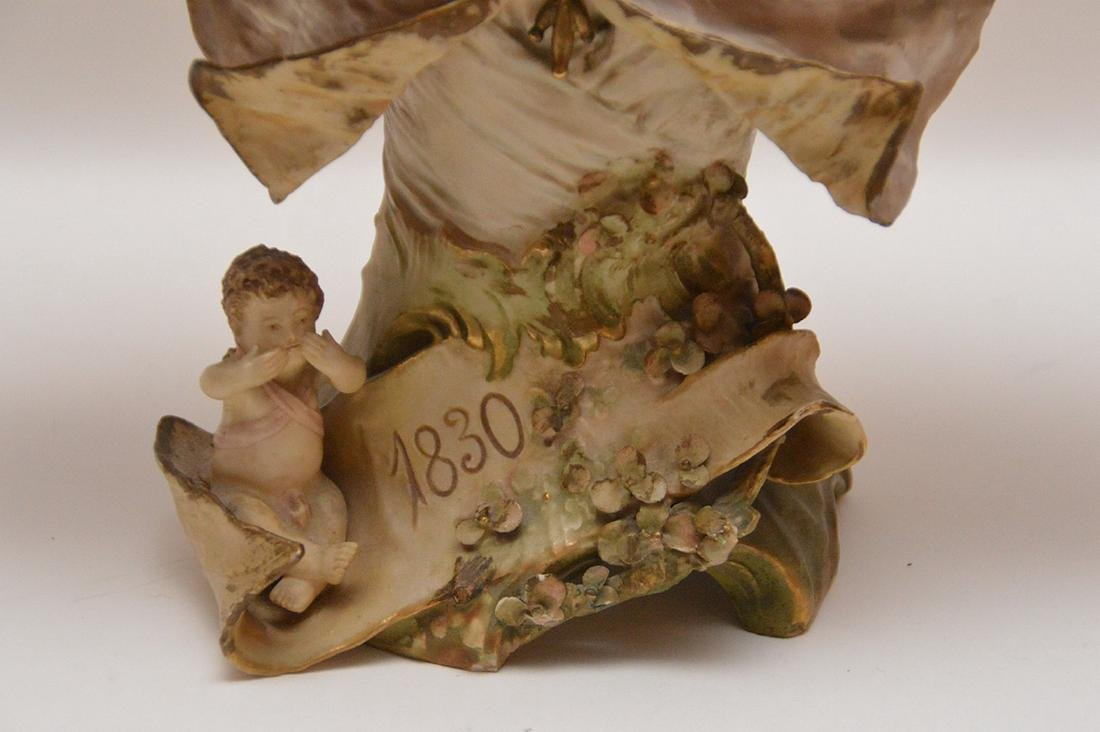Teplitz Amphora porcelain bust of a woman Austria 1900, - 3