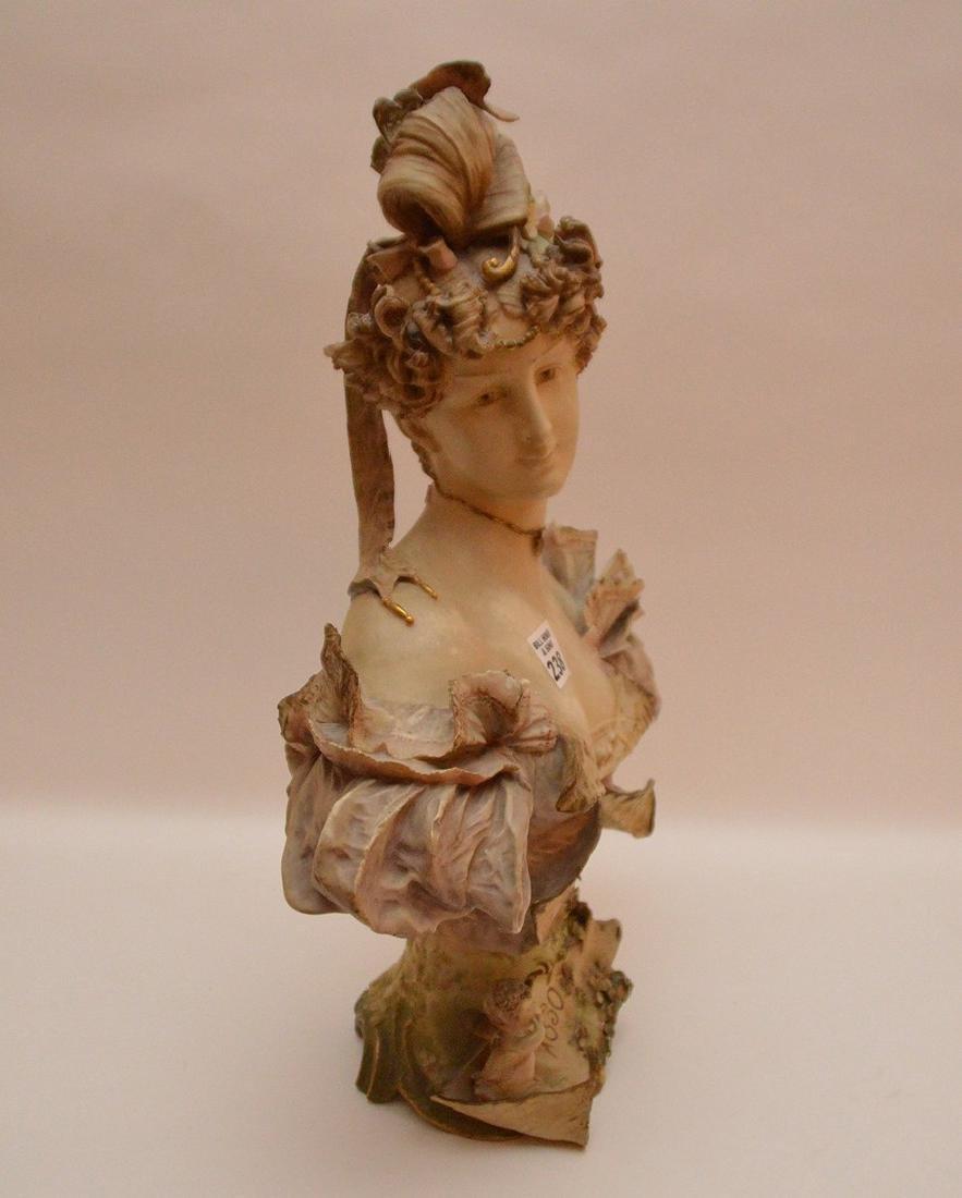 Teplitz Amphora porcelain bust of a woman Austria 1900, - 5