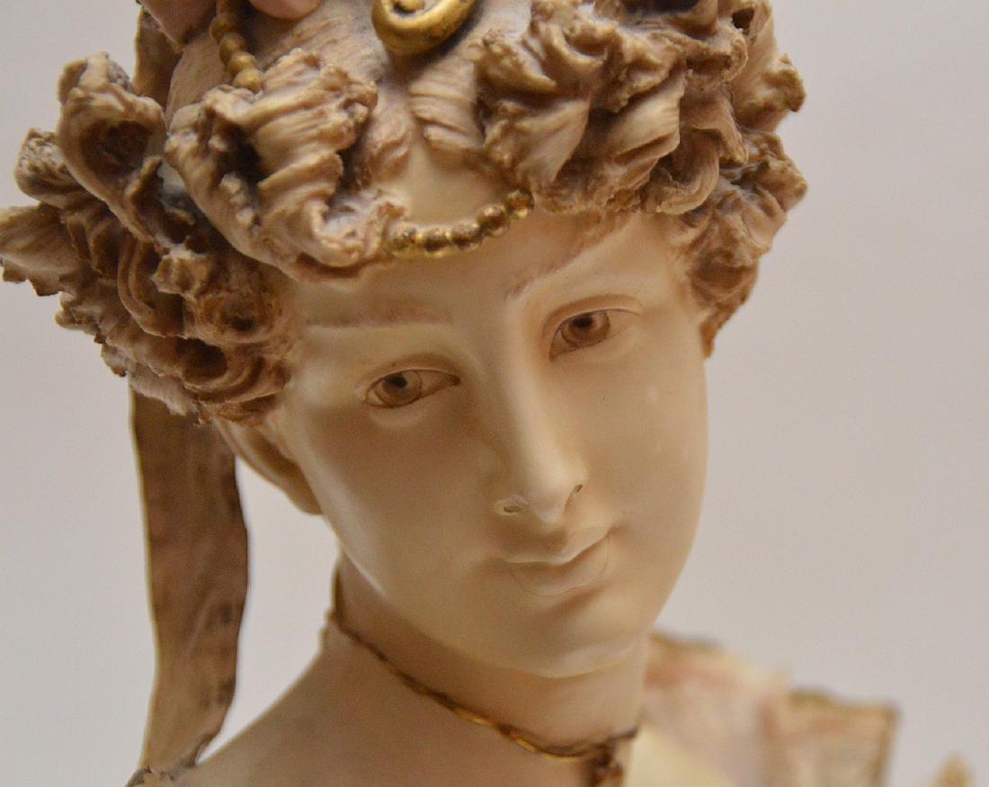 Teplitz Amphora porcelain bust of a woman Austria 1900, - 6