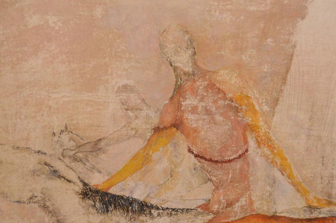 Large oil on massonite board, Circus Routine, Sallie - 3
