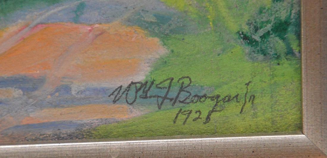 Dutch School oil on board, summer landscape, signed - 3