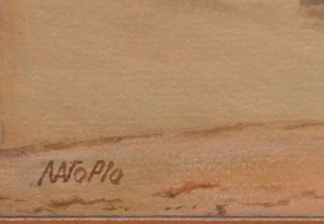 Russian watercolor Lagorio, waves crashing on the shore - 4