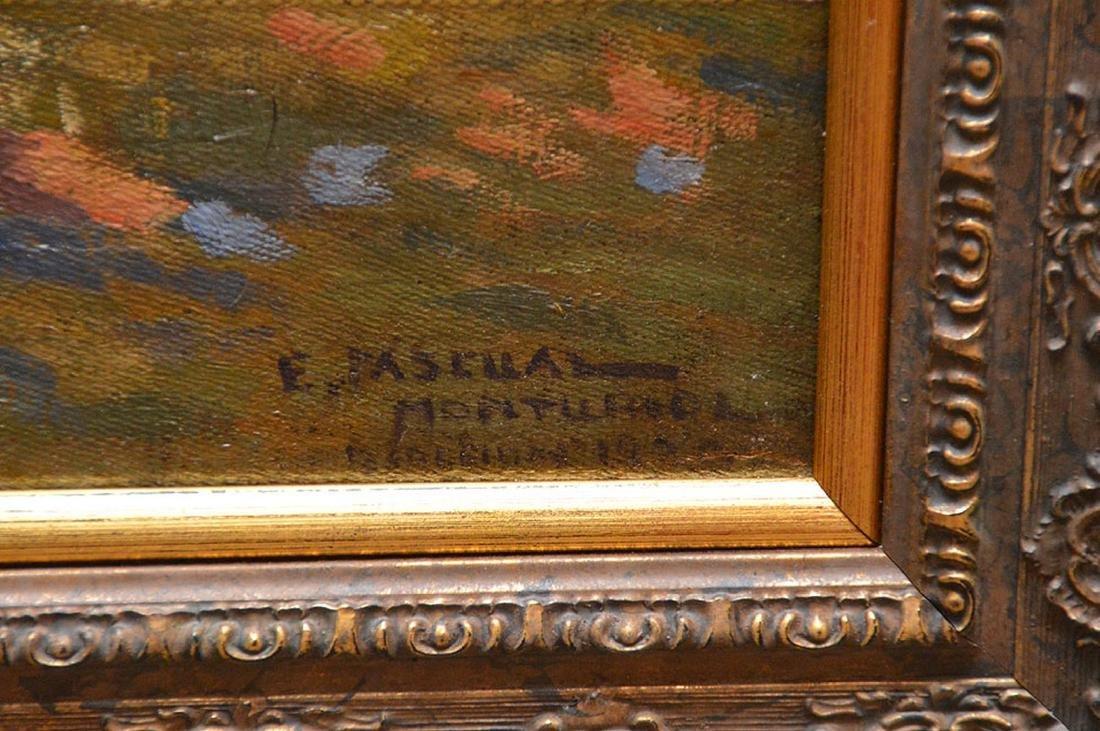 Enrique Pascual Monturiol oil on canvas, couple holding - 3
