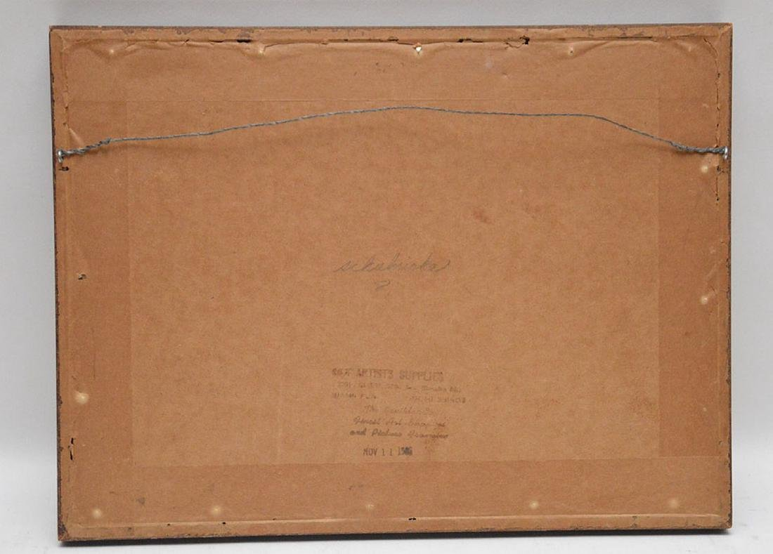 2 drawings by Herschel Levit, pen/ink girl playing - 6