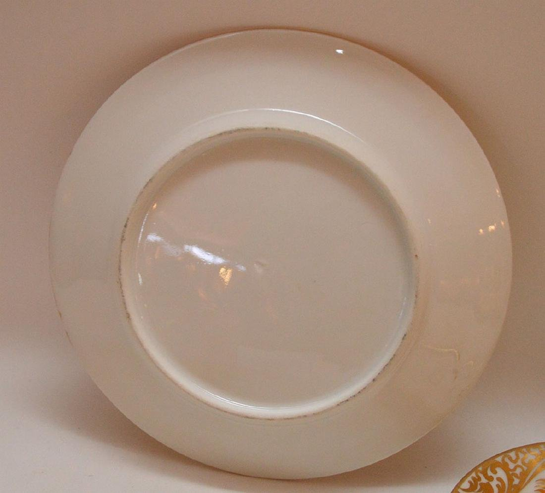 4 pieces Paris porcelain, 3 plates & portrait cup - 4