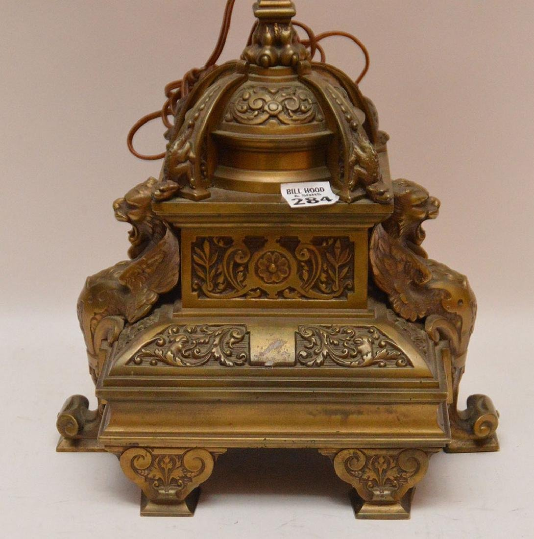 """6 light figural bronze lamp/candelabra, 31""""h - 2"""