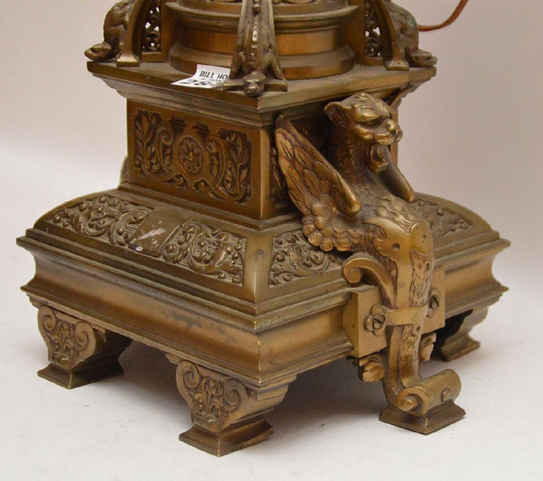 """6 light figural bronze lamp/candelabra, 31""""h - 5"""