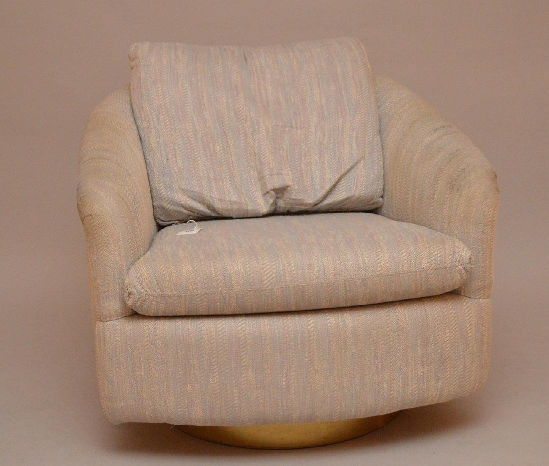 Milo Baughman / Thayer Coggin Upholstered Swivel Chair.