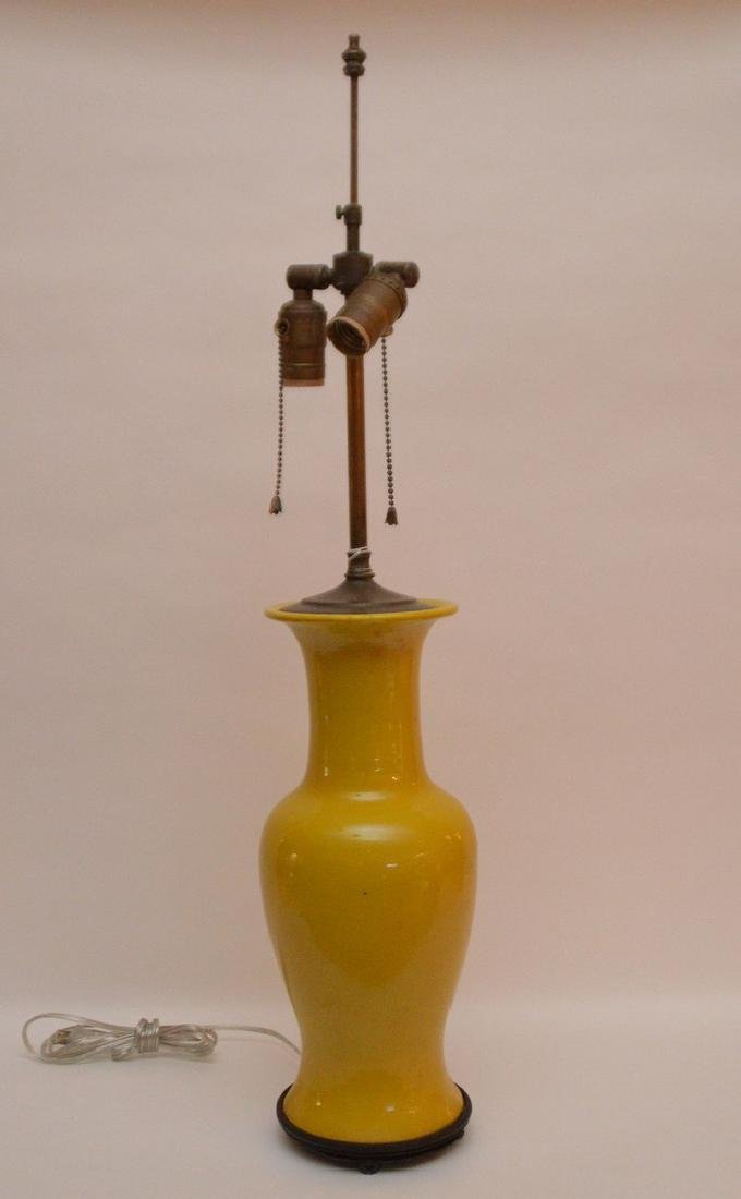 """Chinese Porcelain Lamp.  Ht. 15"""" Overall Ht. 30"""""""