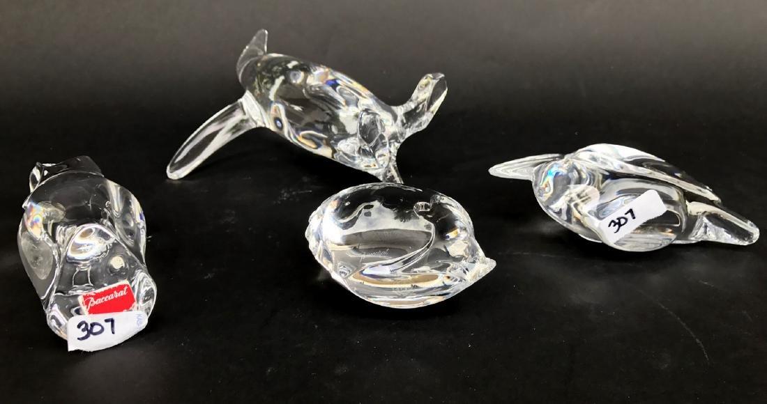 4 Baccarat birds, pelican, owl, fish and penguin - 2