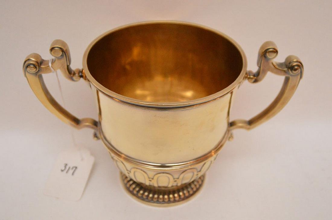 "English sterling loving cup, ""Chricton Ltd"", 21ozt, 7""h - 3"