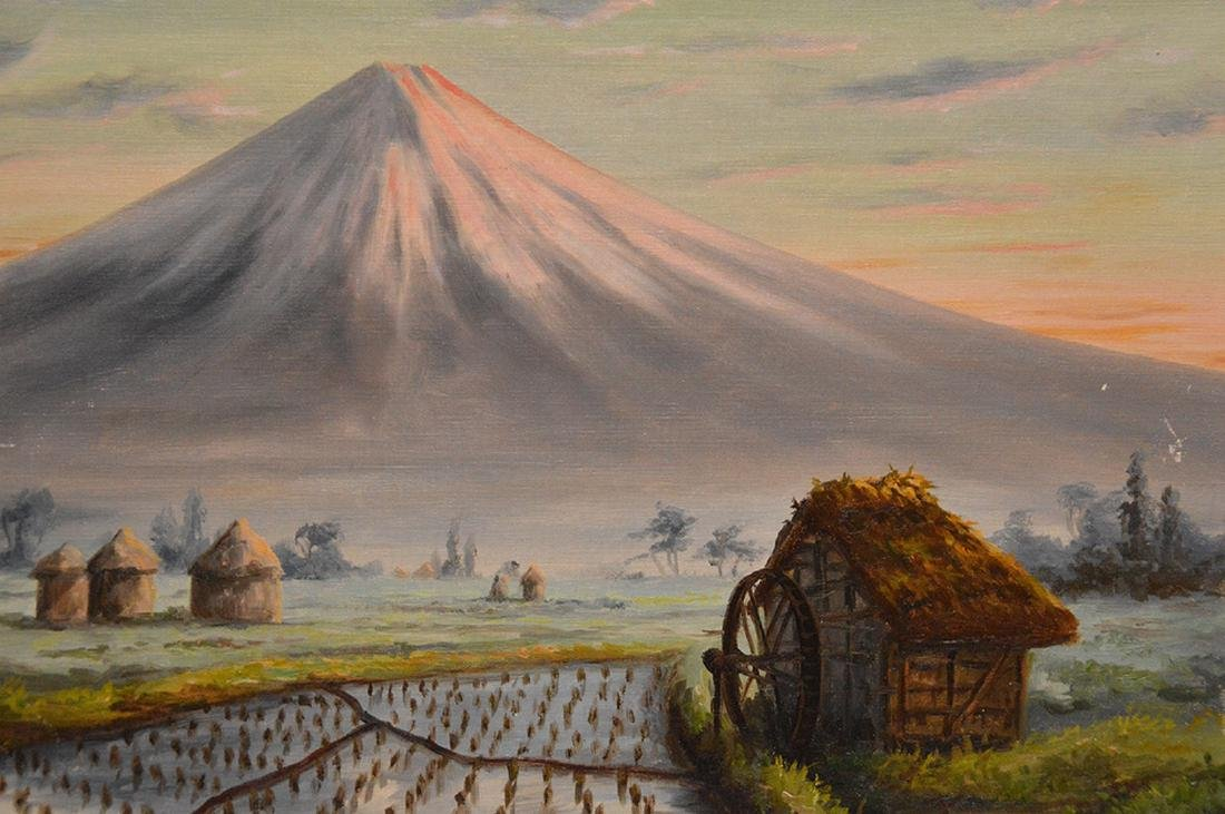 T. Saito Japanese Painting, mount Fuji, 15 x 18 inches - 2