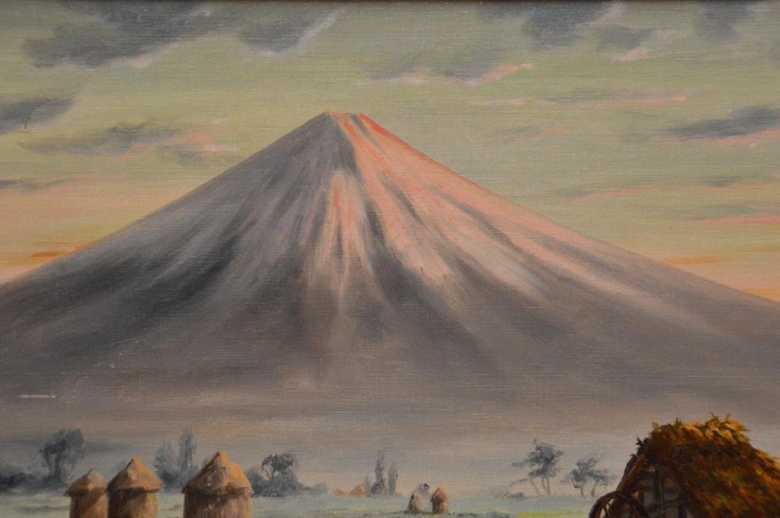 T. Saito Japanese Painting, mount Fuji, 15 x 18 inches - 4
