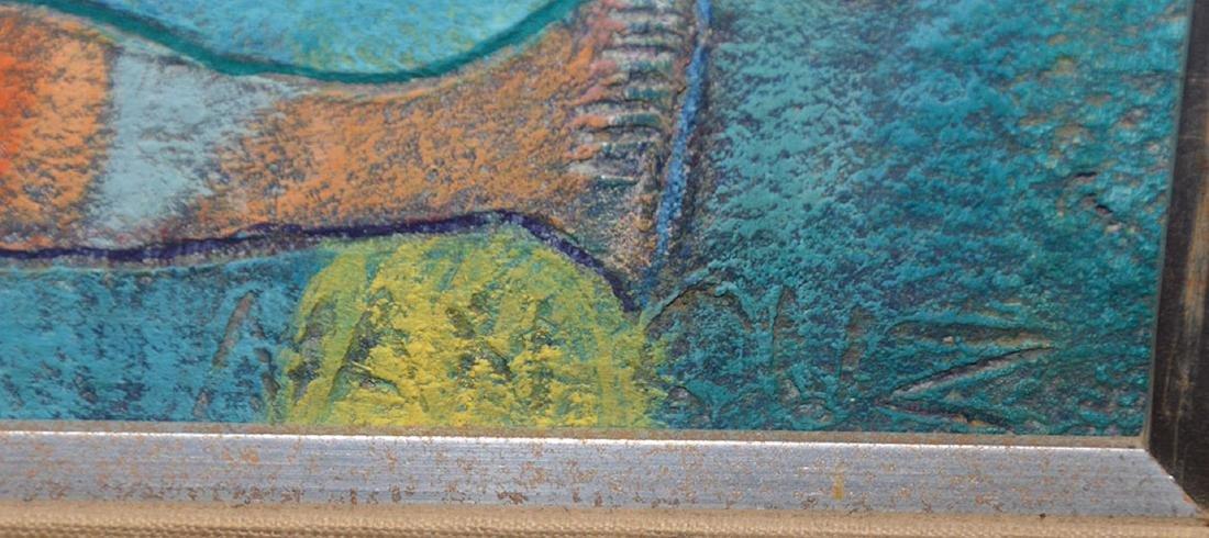 Nancuz oil on board, Modernist Fisherman painting, 24 x - 5