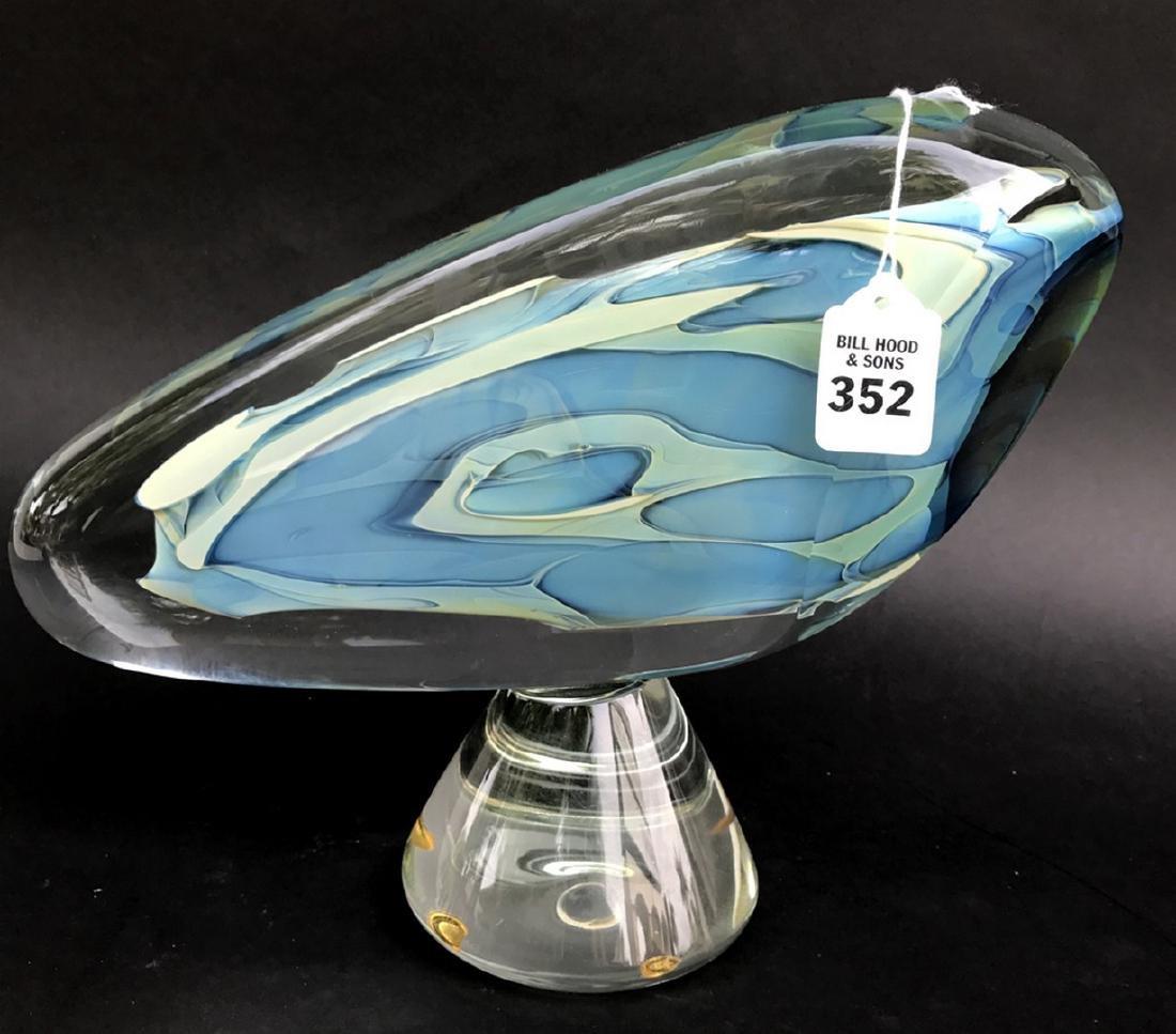 """Art glass sculpture, 13""""L"""