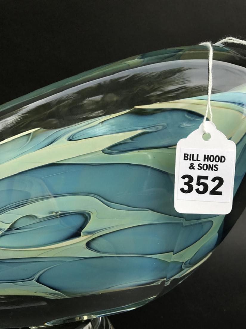 """Art glass sculpture, 13""""L - 2"""