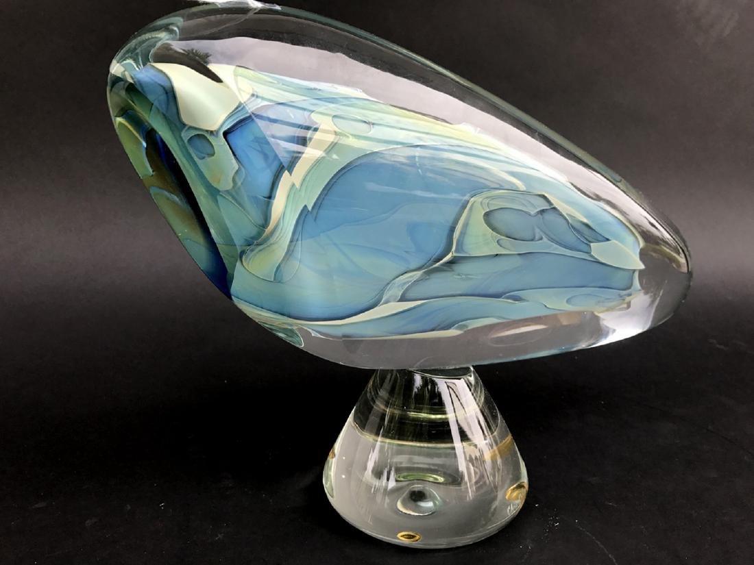 """Art glass sculpture, 13""""L - 3"""