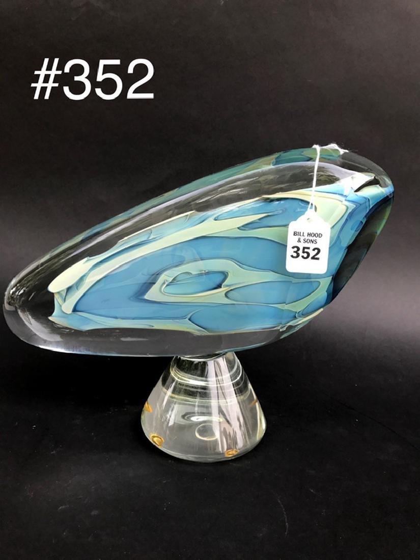 """Art glass sculpture, 13""""L - 6"""