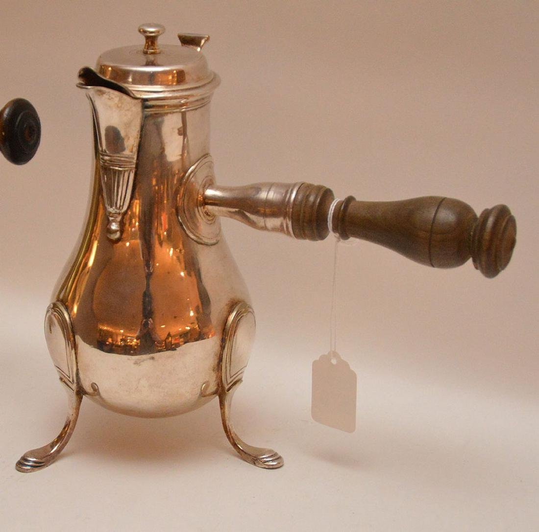 """French brass coffee pot, circa 1785 (10 1/2""""h) AND - 2"""