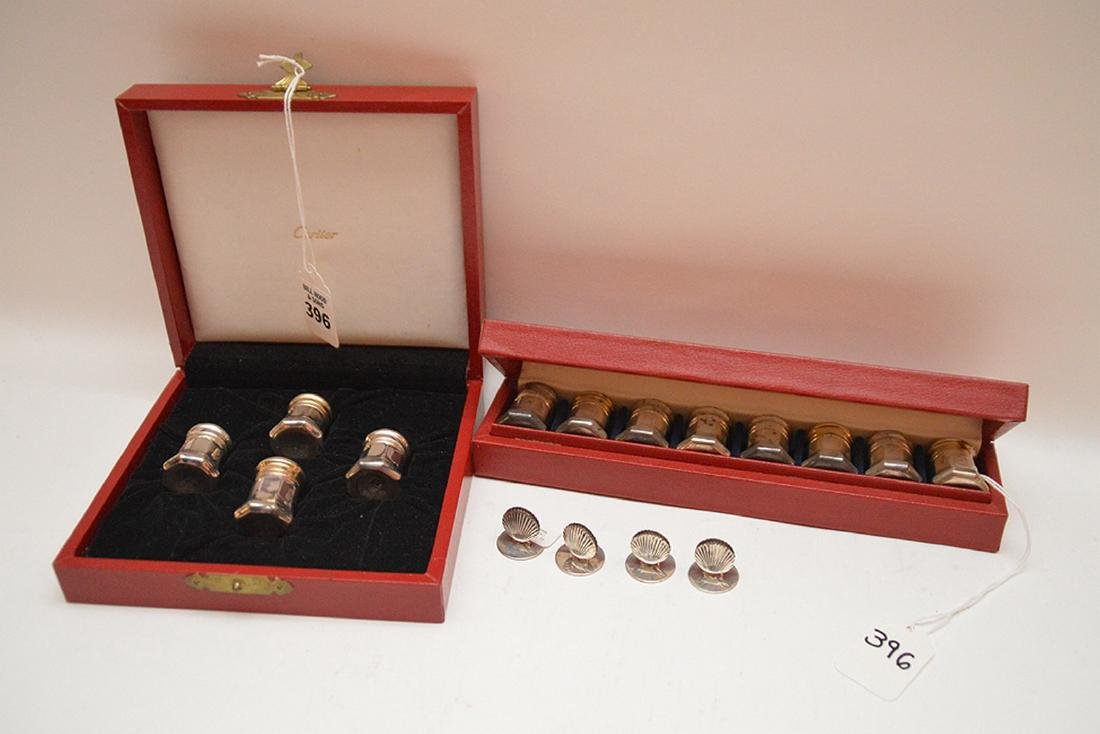 Lot Tiffany & Cartier Sterling.  12 Cartier Sterling