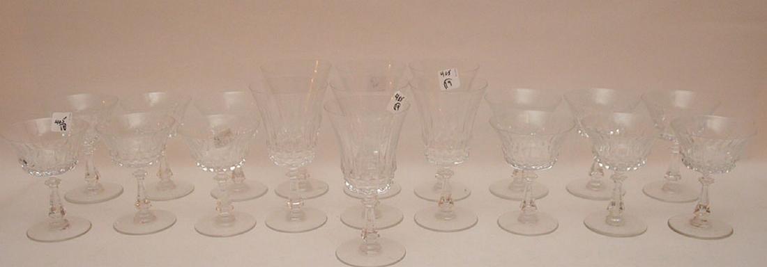 9pc. Val St. Lambert glass set, assorted sizes