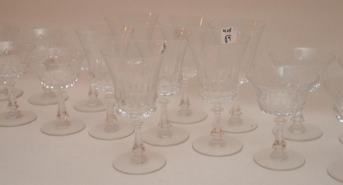 9pc. Val St. Lambert glass set, assorted sizes - 2