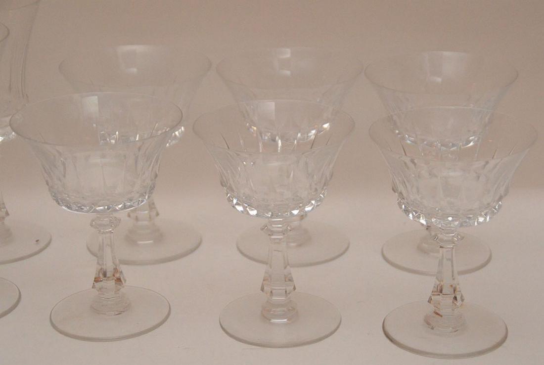 9pc. Val St. Lambert glass set, assorted sizes - 3