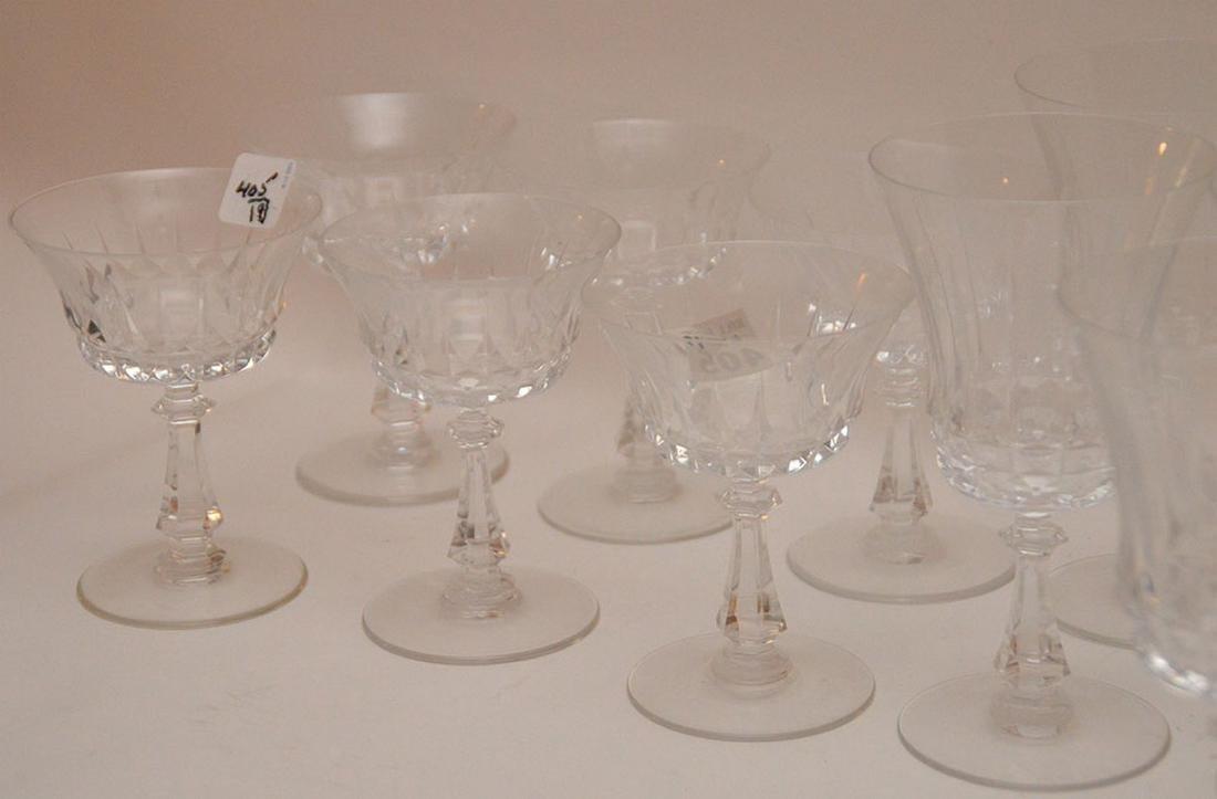 9pc. Val St. Lambert glass set, assorted sizes - 4