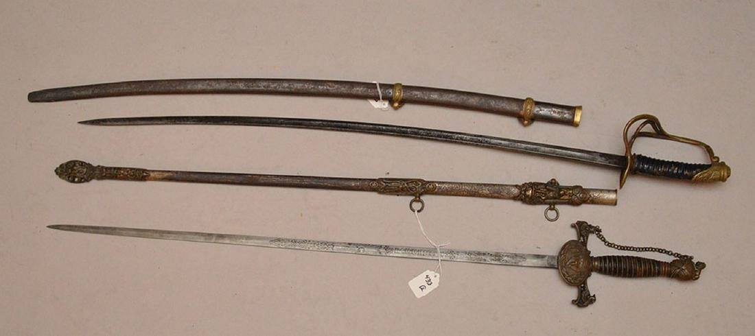 Pair of ceramonial Swords