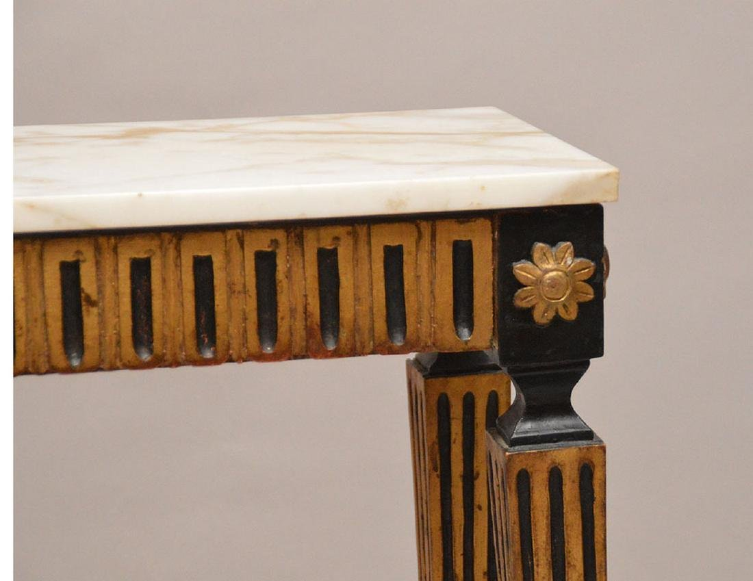 """Console with black & gold accents with marble top, 32""""h - 2"""