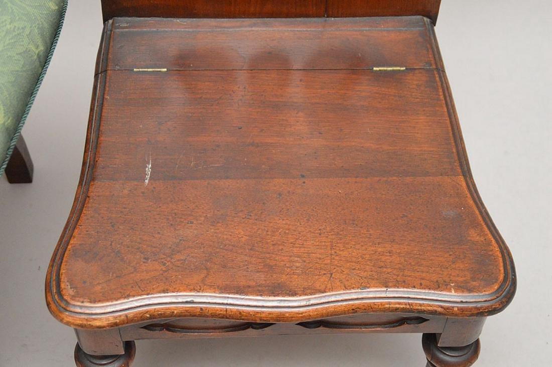 Pair pierced unusual dark wood chairs - 4