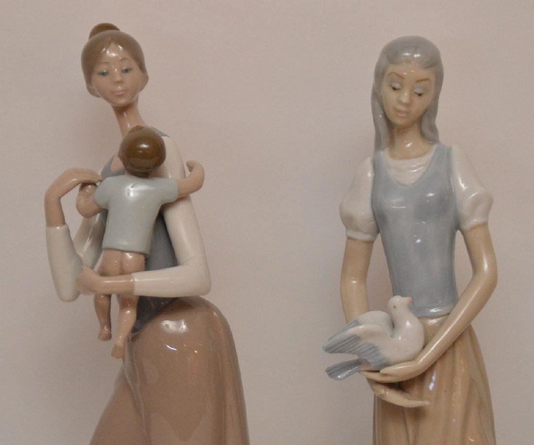 5 assorted Lladro & Nao figures - 3