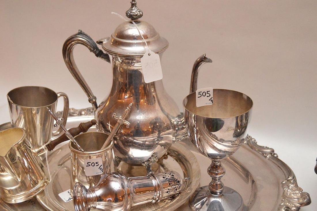 """Early Elaborate Silver Plated Tureen.  Ht. 9"""" W. 14"""". - 4"""