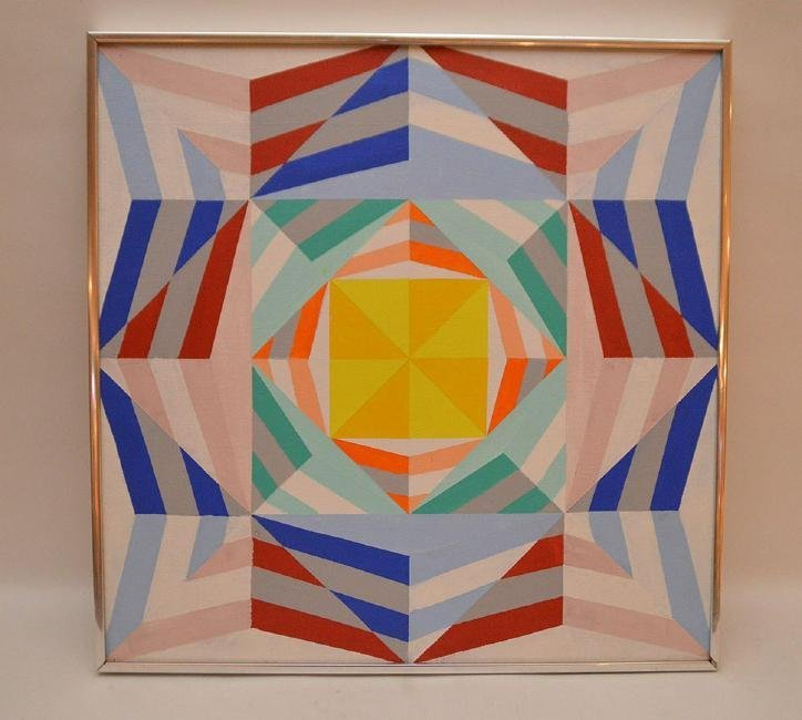 Good Modernist Geometric Painting. Acrylic on Canvas.