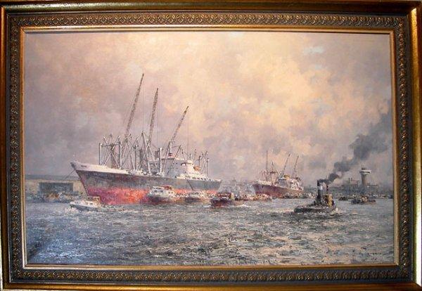 38: M. de Tongere, Scandinavian School, oil on canvas,