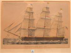 292 Currier and Ives Homeward Bound clipper ship a