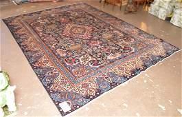 Oriental rug Persian style dark blue field