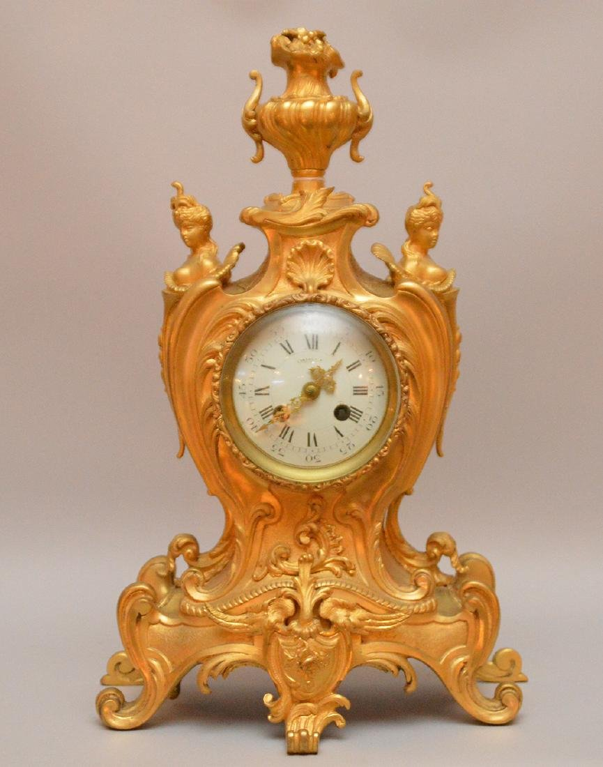Tiffany & Company Gilt Bronze Clock with time and