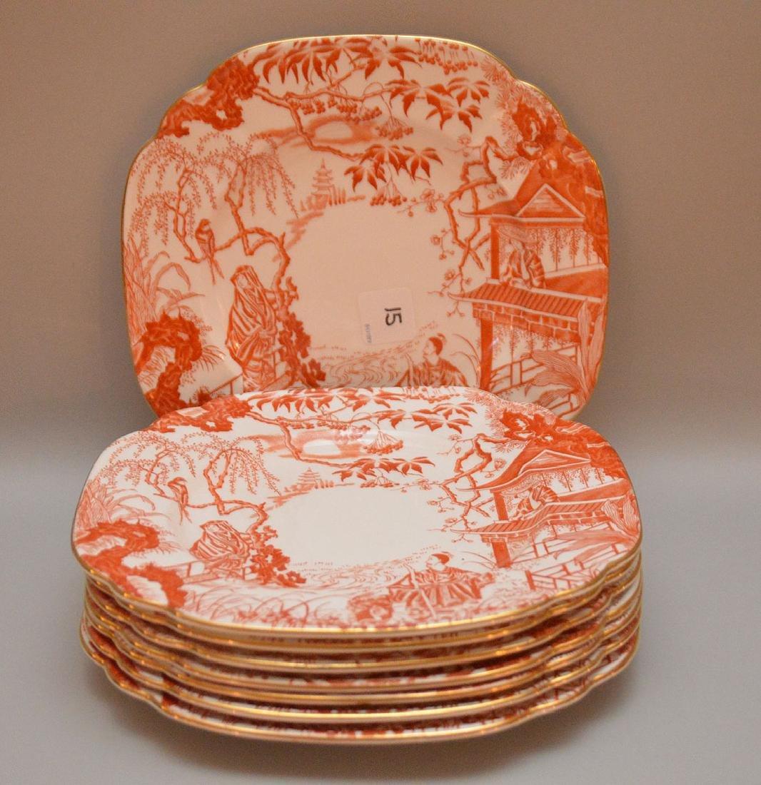 Royal Crown Derby porcelain china service, incl;  12
