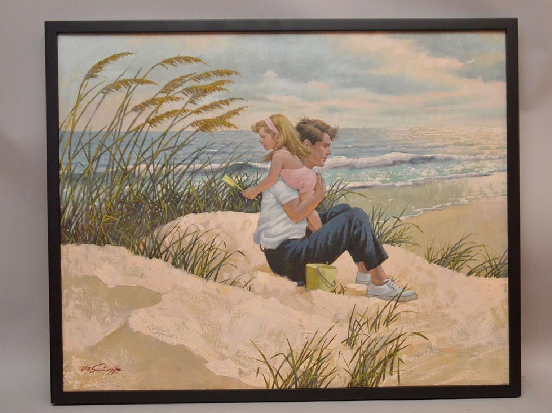 "ARTHUR SARNOFF, American 1912-2000, ""Dad With Daughter"