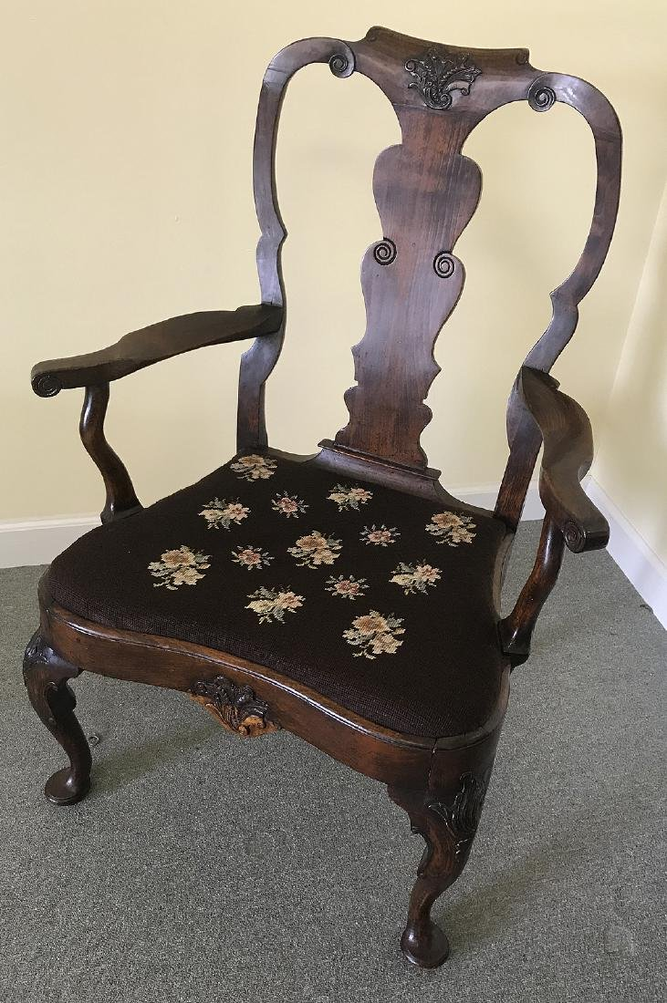 18th/19th c. Dutch open arm chair, Holland circa 1800