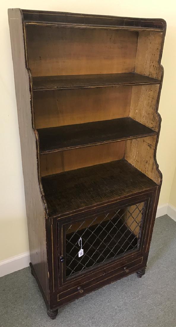"19th c. English bookcase, 55""h x 24""w x 13""d"