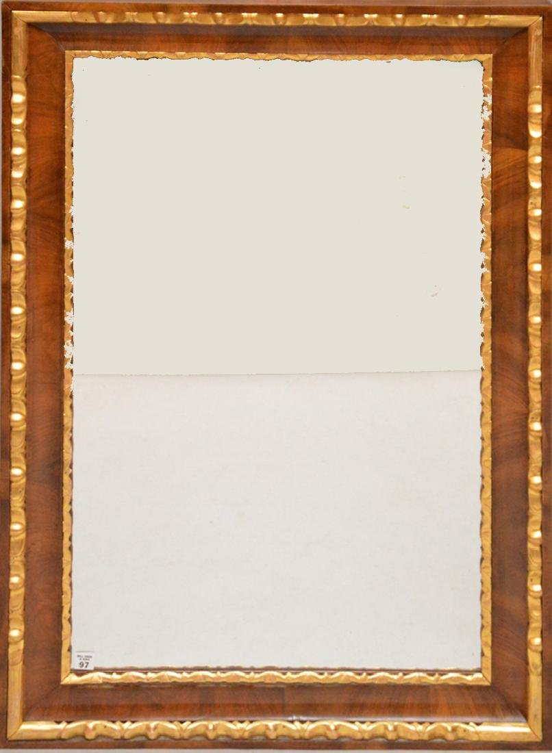 Early 19th century large parcel gilt and walnut veneer