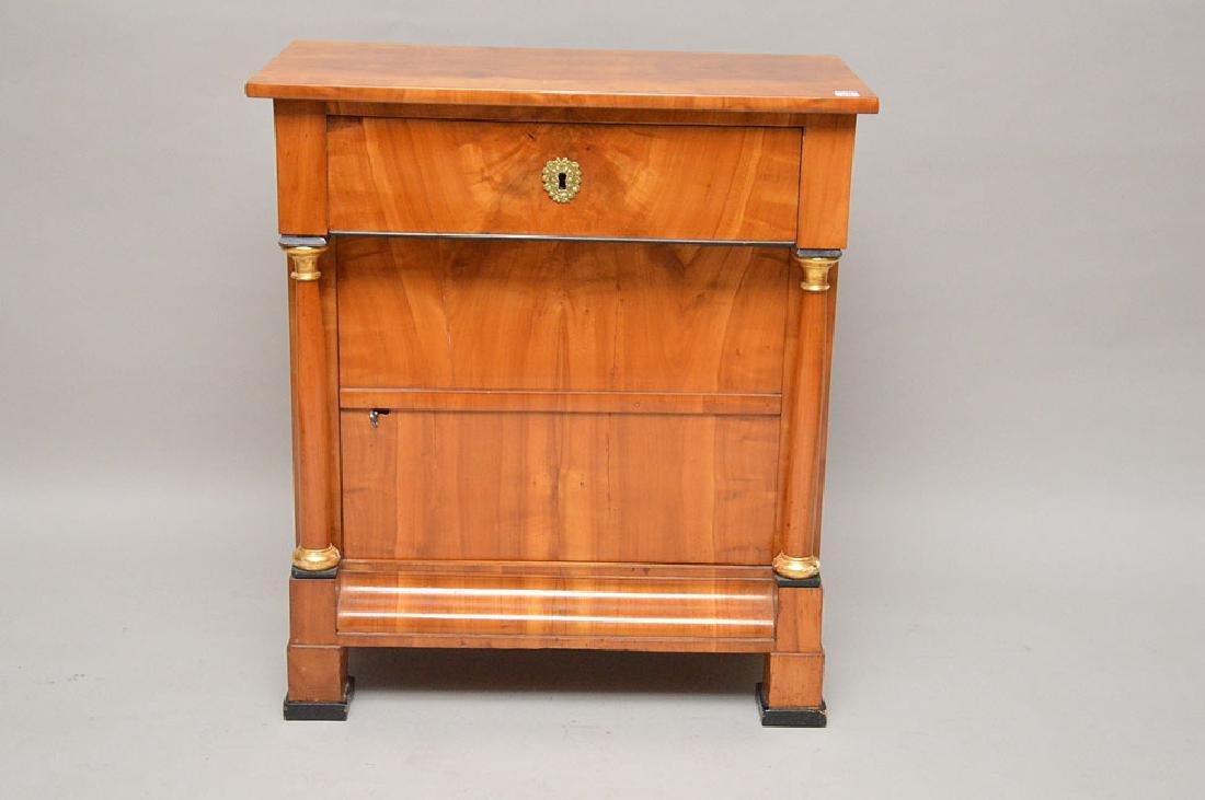 18th Century Biedermeier one drawer with door birch